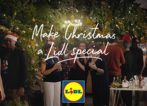 Inside Lidl at Christmas